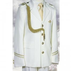 niño chaqueta blanca